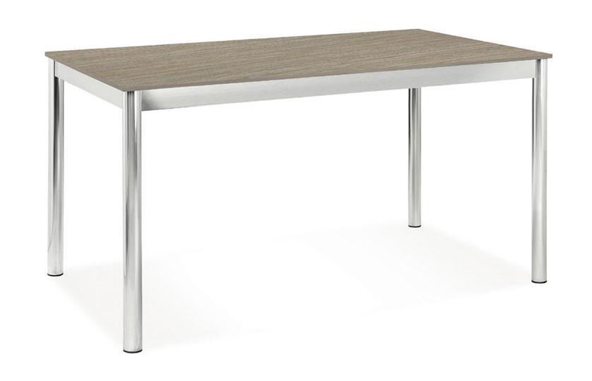 Tavolo Desk Impiallacciato Metallo