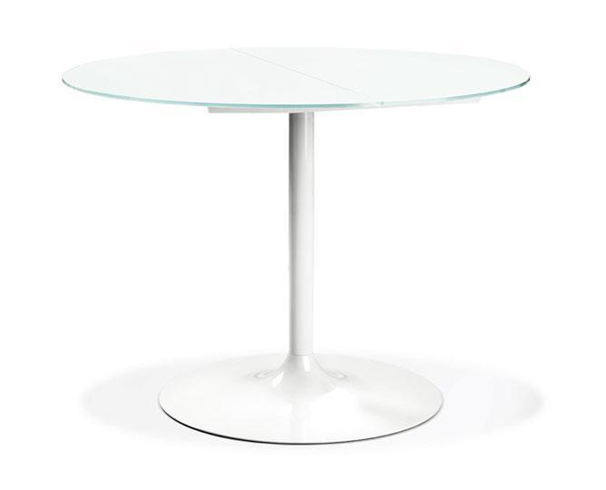 Tavolo piccadilly vetro metallo centro cucina for Tavolo rotondo diametro 90