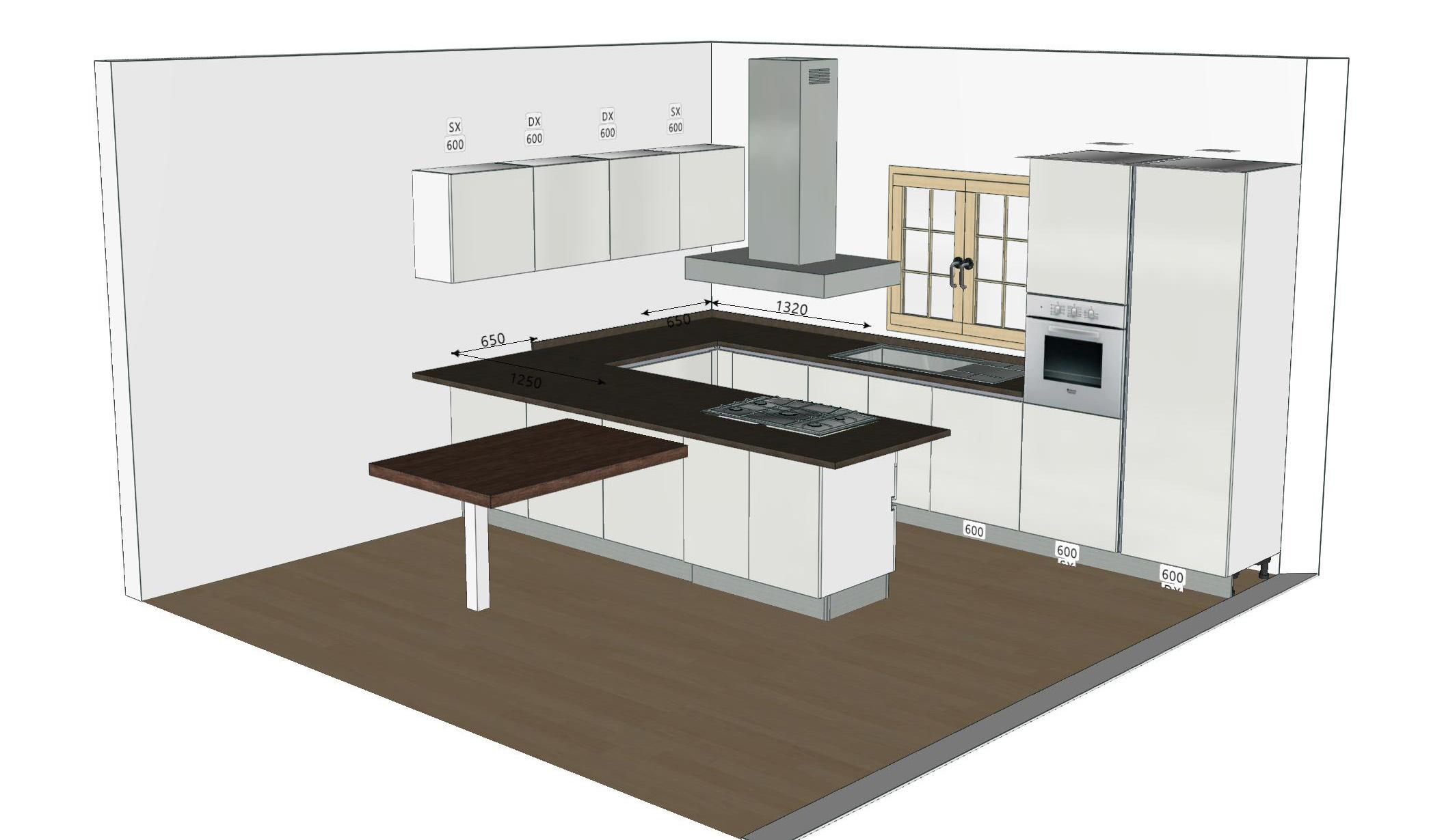 Misure Standard Top Cucina progetti: brava di lube cucina su misura | centro cucina